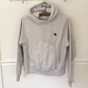 Champion heather grey hoodie sweatshirt, sz S